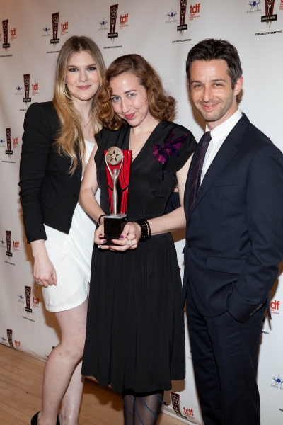 Lily Rabe, Kristen Schall and Jeremy Strong at 26th Annual Lucille Lortel Awards: Winners, Presenters and Performers