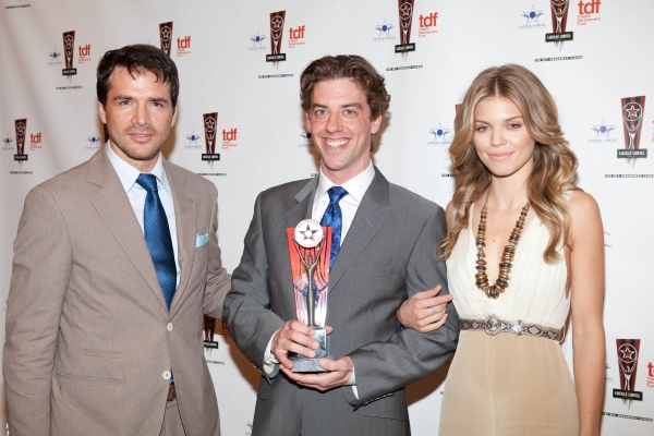 Matthew Settle, Christian Borle and AnnLynne McCord at 26th Annual Lucille Lortel Awards: Winners, Presenters and Performers