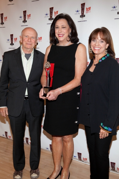 Terrence McNally, Lynn Meadow and Valerie Harper at 26th Annual Lucille Lortel Awards: Winners, Presenters and Performers