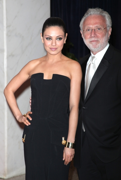 Mila Kunis & Wolf Blitzer attending the White House Correspondents' Association (WHCA) dinner at the Washington Hilton Hotel in Washington, D.C.. © Walter McBride / WM Photography / Retna Ltd.