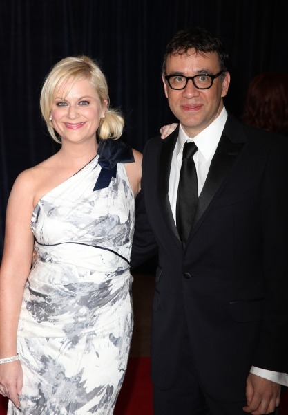 Amy Poehler & Fred Armisen attending the White House Correspondents' Association (WHCA) dinner at the Washington Hilton Hotel in Washington, D.C.. © Walter McBride / WM Photography / Retna Ltd.