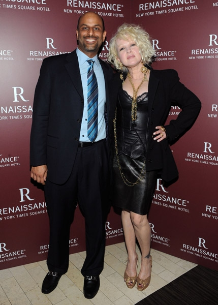 Apoorva Gandhi and singer/songwriter Cyndi Lauper