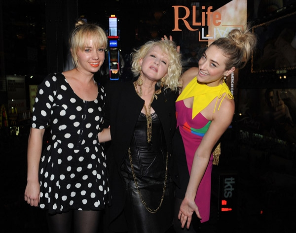 Caitlin Moe, singer/songwriter Cyndi Lauper and DJ Mia Moretti