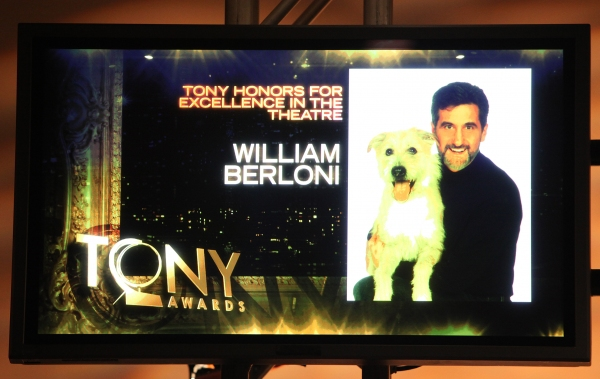 Tony Honors William Berloni for Excellence in Theatre at 2011 Tony Award Nominations Announcement