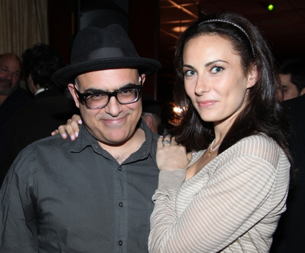 David Yazbek & Laura Benanti attending the 56th Annual Drama Desk Award Nominees Reception at Bombay Palace in New York City.