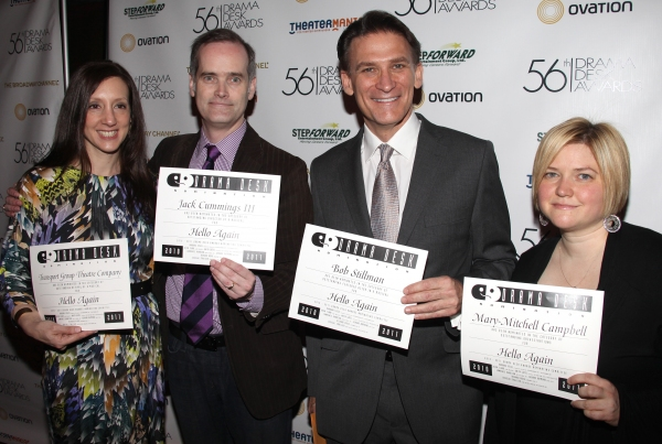 Hello Again attending the 56th Annual Drama Desk Award Nominees Reception at Bombay Palace in New York City.