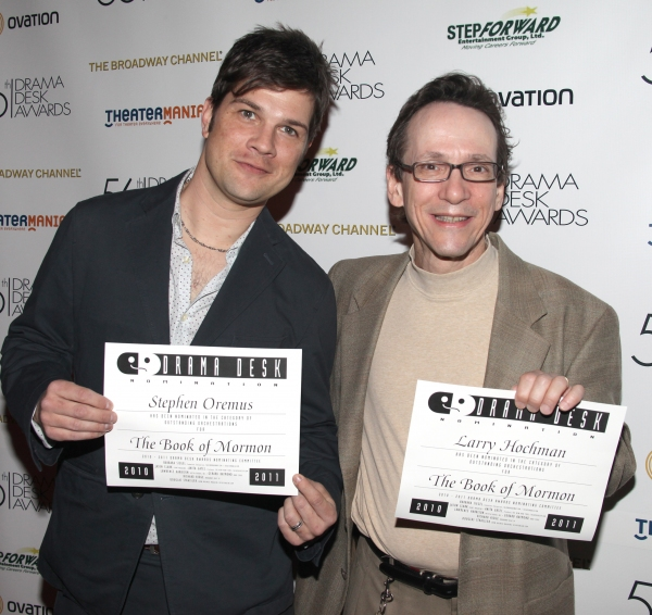 Stephen Oremus & Larry Hochman attending the 56th Annual Drama Desk Award Nominees Reception at Bombay Palace in New York City.