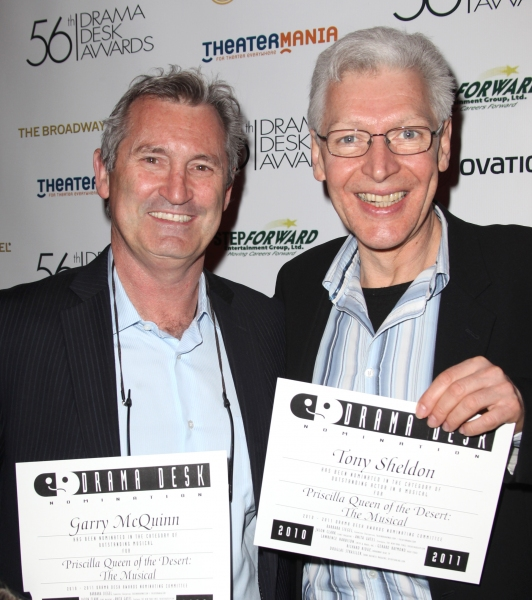 Garry McQuinn & Tony Sheldon attending the 56th Annual Drama Desk Award Nominees Reception at Bombay Palace in New York City.