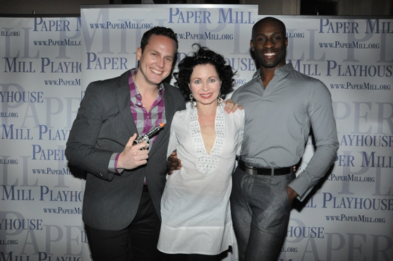 Kyle Vaughn, Mary Ann Lamb and Taurean Everett at Paper Mill Celebrates CURTAIN's Opening Night Party