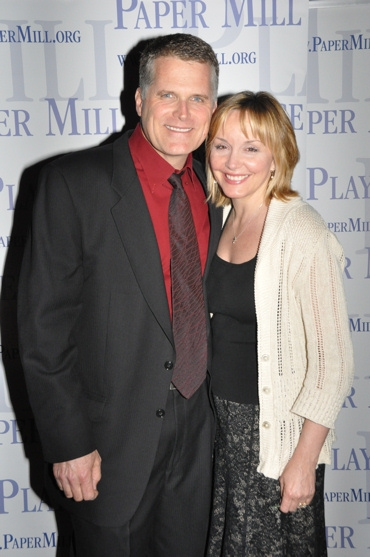 Robert Newman and Britt Helfer at Paper Mill Celebrates CURTAIN's Opening Night Party