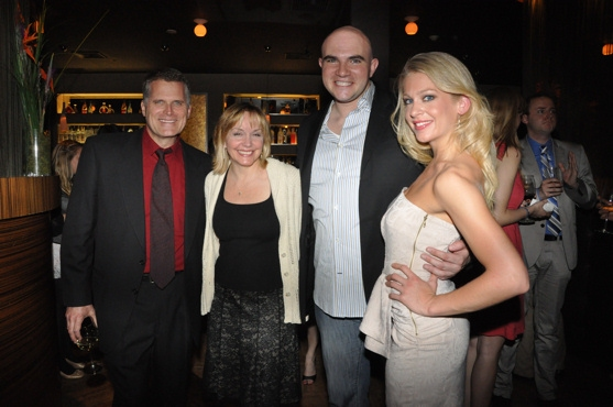 Robert Newman, Britt Helfer, Rye Mullis and Anne Horak at Paper Mill Celebrates CURTAIN's Opening Night Party
