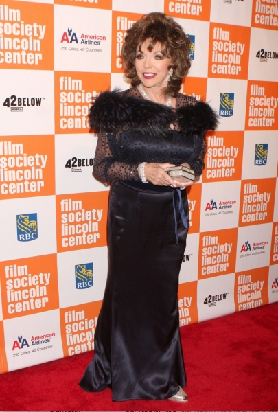 Joan Collins at Film Society of Lincoln Center Honors Sidney Poitier