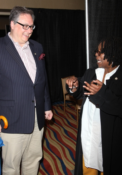 Douglas Beane Carter & Whoopi Goldberg attending the 65th Annual Tony Awards Meet The Nominees Press Reception at the Millennium Hotel in New York City.