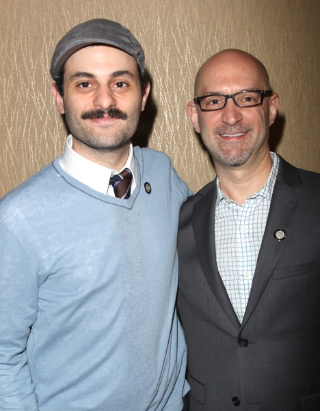 Arian Moayed and David Lander attending the 65th Annual Tony Awards Meet The Nominees Press Reception at the Millennium Hotel in New York City.