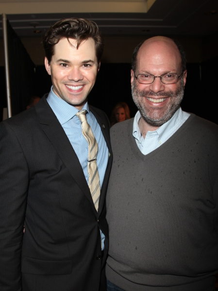 Andrew Rannells & Scott Rudin attending the 65th Annual Tony Awards Meet The Nominees Press Reception at the Millennium Hotel in New York City.
