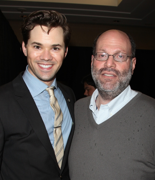 Andrew Rannells & Scott Rudin attending the 65th Annual Tony Awards Meet The Nominees Press Reception at the Millennium Hotel in New York City. at Meet the 2011 Tony Nominees - Part Two!