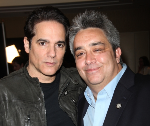 Yul Vazquez & Stephen Adly Guirgis attending the 65th Annual Tony Awards Meet The Nominees Press Reception at the Millennium Hotel in New York City.