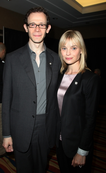 Adam Godley & Hannah Yelland attending the 65th Annual Tony Awards Meet The Nominees Press Reception at the Millennium Hotel in New York City.