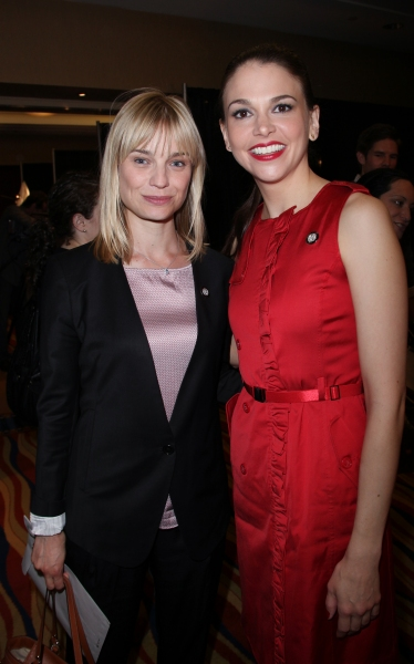 Hannah Yelland & Sutton Foster attending the 65th Annual Tony Awards Meet The Nominees Press Reception at the Millennium Hotel in New York City.