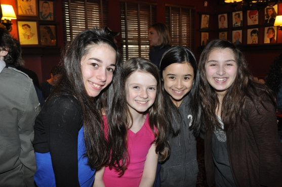 From Billy Elliot- Aly Brier, Makenzi Fischbach, Caroline Workman and Annabelle Kempf at Career Transition for Dancers Celebrates Broadway Dance Community
