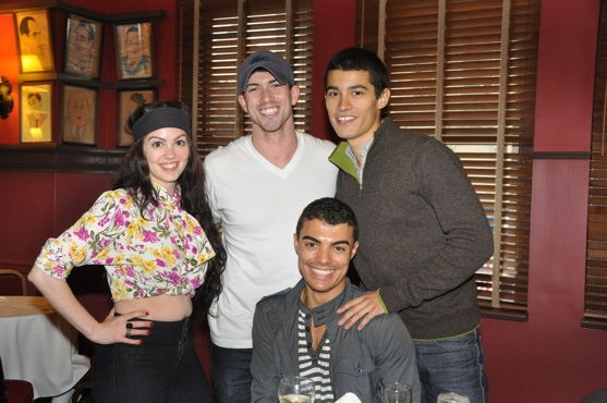 Lindsay Dunn (West Side Story) , Michaeljon Slinger (How to Succeed), Christian Elan Ortiz (West Side Story) and  Yurel Echezarreta (La Cage)