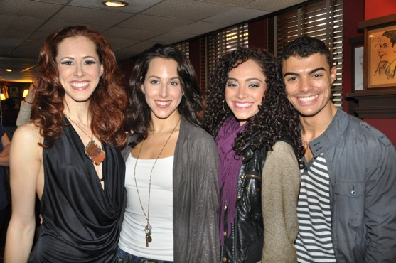 Heather Parcells (Wonderland), Jessica Lea Patty (People In The Picture), Tanairi Sade Vazquez and Yurel Echezarreta at Career Transition for Dancers Celebrates Broadway Dance Community