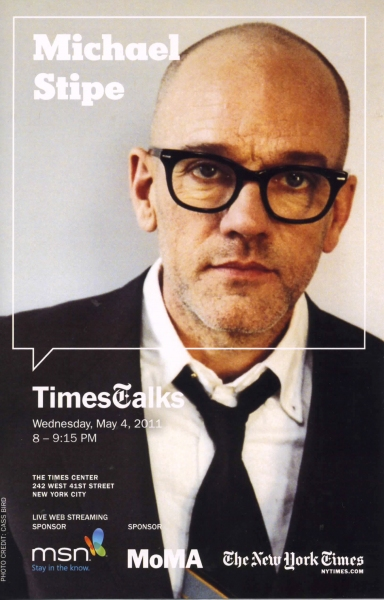 Times Talks with Betty White & Michael Stipe at Times Center in New York City.