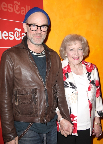 Michael Stipe & Betty White attending the Times Talks with Betty White & Michael Stipe at Times Center in New York City. at Betty White & Michael Stipe Visit TimesTalks