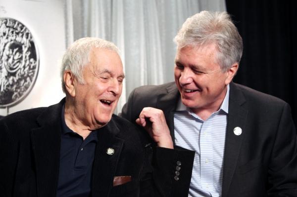 John Kander & David Thompson attending the 65th Annual Tony Awards Meet The Nominees  Photo