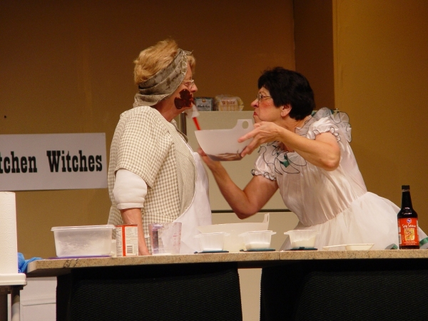 Karen Johnston and Donna Ault in Kitchen Witches