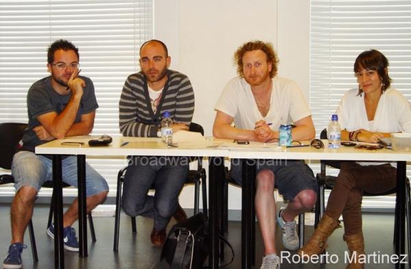 Alfonso Casado, Victor Conde, Christopher Key y Mariana Gomez Cora