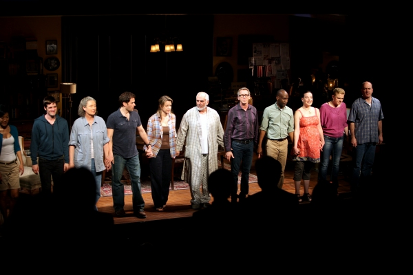 Hettienne Park, Michael Esper, Brenda Wehle, Steven Pasquale, Linda Emond, Michael Cristofer, Stephen Spinella, K. Todd Freeman, Danielle Skraastad, Molly Price & Matt Servitto during 'The Intelligent Homosexual's Guide' Opening Night Curtain Call in New