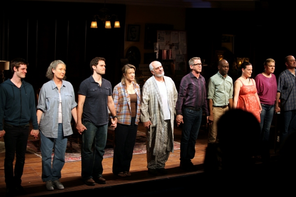 Michael Esper, Brenda Wehle, Steven Pasquale, Linda Emond, Michael Cristofer, Stephen Spinella, K. Todd Freeman, Danielle Skraastad, Molly Price & Matt Servitto during 'The Intelligent Homosexual's Guide' Opening Night Curtain Call in New York City.