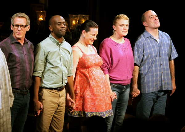 Stephen Spinella, K. Todd Freeman, Danielle Skraastad, Molly Price & Matt Servitto during 'The Intelligent Homosexual's Guide' Opening Night Curtain Call in New York City.