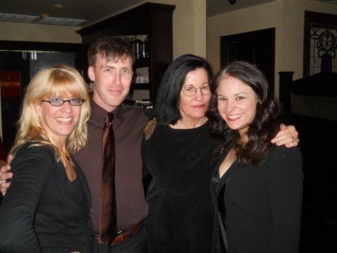 Director, Margarett Perry, Producer. Adam Fitzgerald, playwright, Israela Margalit and actress Lori Prince