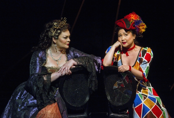 Violeta Urmana as Ariadne and Kathleen Kim as Zerbinetta