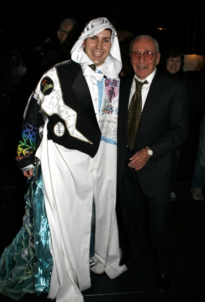 Steve Konopelski (Gypsy Robe Winner) & Arthur Laurents (Director) attending the Broadway Opening Night Gypsy Robe Ceremony for GYPSY at the St. James Theatre in New York City.