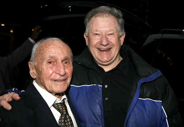 Arthur Laurents & Harvey Evans attending the Broadway Opening Night Gypsy Robe Ceremony for GYPSY at the St. James Theatre in New York City. at Remembering Arthur Laurents
