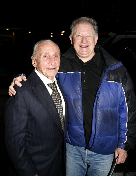 Arthur Laurents & Harvey Evans attending the Broadway Opening Night Gypsy Robe Ceremony for GYPSY at the St. James Theatre in New York City.