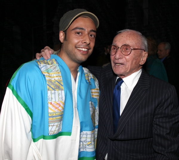 Manuel Herrera (Gypsy Robe Winner - WEST SIDE STORY) Arthur Laurents attending the Opening Night Performance Gypsy Robe Ceremony for WEST SIDE STORY at the Palace Theatre in New York City.