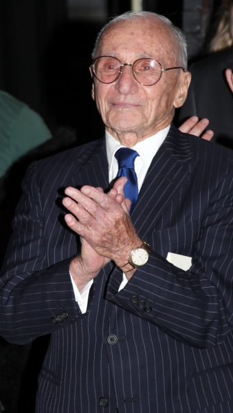 Arthur Laurents attending the Opening Night Performance Gypsy Robe Ceremony for WEST SIDE STORY at the Palace Theatre in New York City.