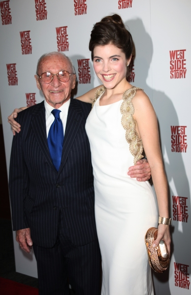 Arthur Laurents & Josefina Scaglione attending the Opening Night Performance After Party for WEST SIDE STORY at Pier Sixty at Chelsea Piers in New York City.  at Remembering Arthur Laurents