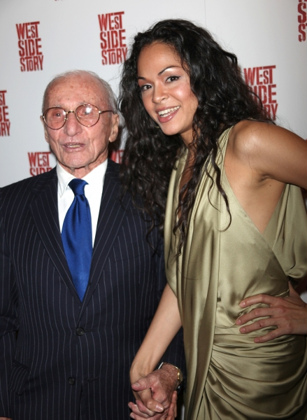 Arthur Laurents & Karen Olivo attending the Opening Night Performance After Party for WEST SIDE STORY at Pier Sixty at Chelsea Piers in New York City.