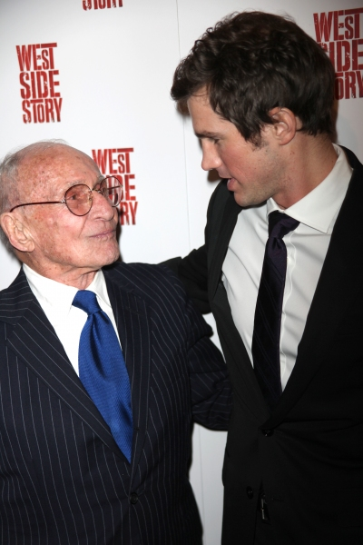 Arthur Laurents & Matt Cavenaugh attending the Opening Night Performance After Party for WEST SIDE STORY at Pier Sixty at Chelsea Piers in New York City.