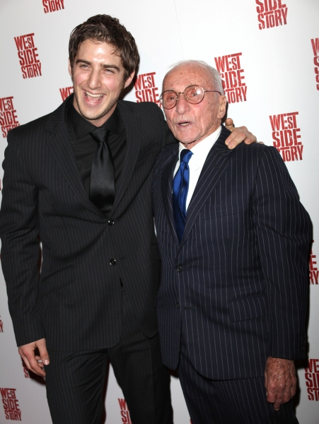 Cody Green & Arthur Laurents attending the Opening Night Performance After Party for WEST SIDE STORY at Pier Sixty at Chelsea Piers in New York City.