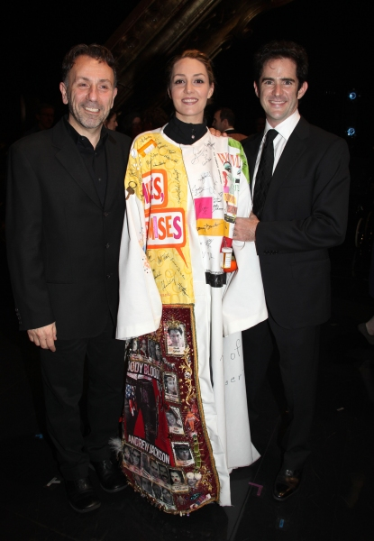 Leonard Foglia & Shannon Lewis & Andy Blankenbuehler attending the Broadway Opening Night Gypsy Robe Ceremony celebrating Recipient Shannon Lewis for 'The People In The Picture' in New York City.