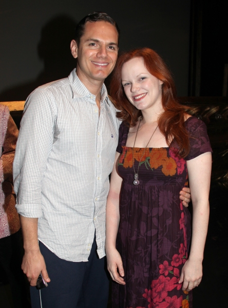 Paul Anthony Stewart & Megan Reinking attending the Broadway Opening Night Gypsy Robe Photo