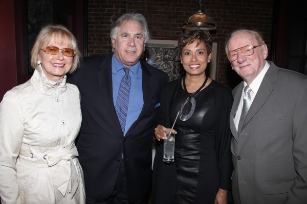 Diane Fay Skomars, Alvin & Yolanda Brown & Guest attending the Pasadena Playhouse Pre-Broadway Opening Night Reception for 'Baby It's You!' at Angus Restaurant in New York City.