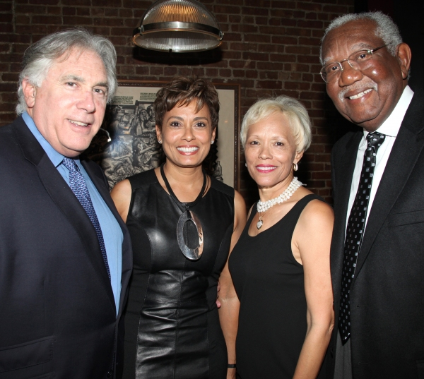 Guests (L-R) Alvin and Yolanda Brown, Brenda and Bill Galloway attending the Pasadena Playhouse Pre-Broadway Opening Night Reception for 'Baby It's You!' at Angus Restaurant in New York City.