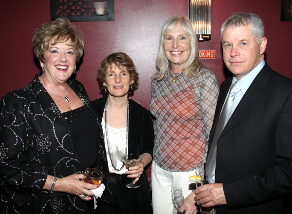 Michele Dedeaux Engemann, Mary Lea Carroll with Guests attending the Pasadena Playhouse Pre-Broadway Opening Night Reception for 'Baby It's You!' at Angus Restaurant in New York City.